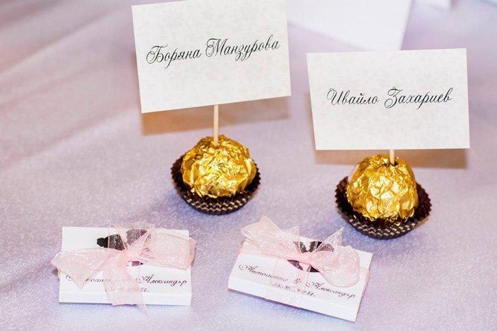 различни подаръци за гости на сватба