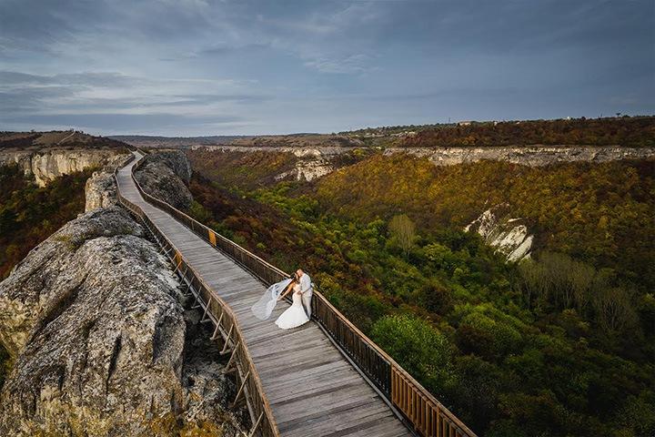сватбена фотосесия крепост Овеч