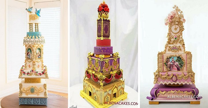 луксозна бутикова сватбена торта