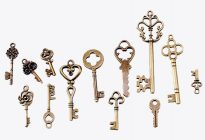 стари метални ключета за сватба vintage стил