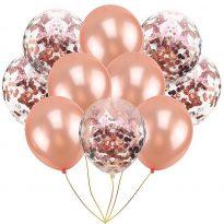 балони за моминско парти с конфети розово злато
