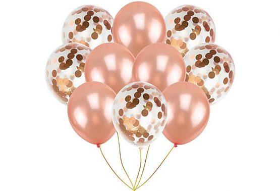 балони за моминско парти с конфети