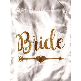 сватбен халат с надпис булка bride