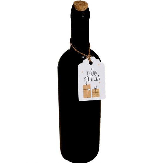 коледни етикети за вино
