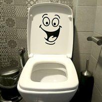 забавен стикер за тоалетна чиния