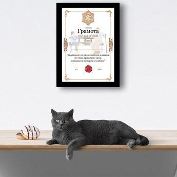 сертификат за най-добър дядо в рамка