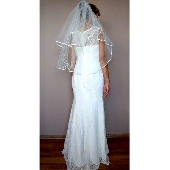 евтино сватбено було с гребенче и сатенена лента