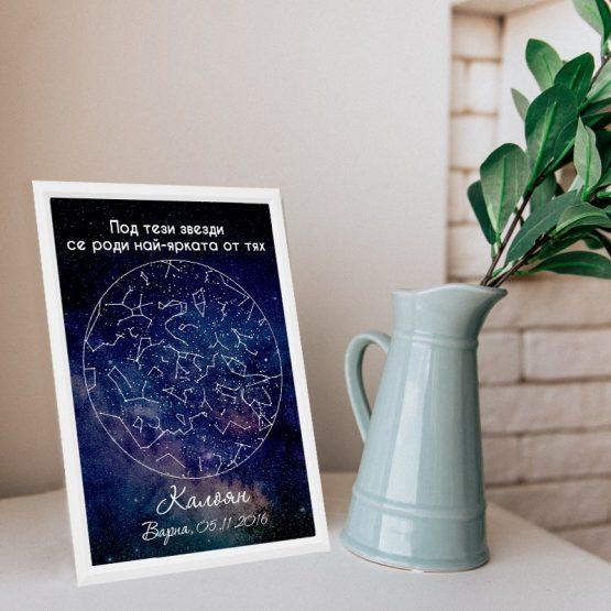 звездни карти в рамка на специален момент