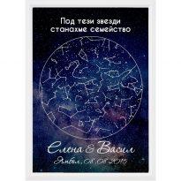 персонализирана звездна карта