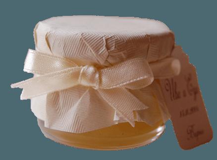 Евтино Бурканче с Мед панделка екрю и благодарствена картичка