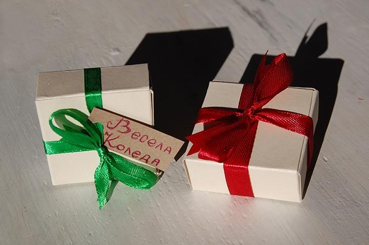 ръчно изработени коледни кутийки