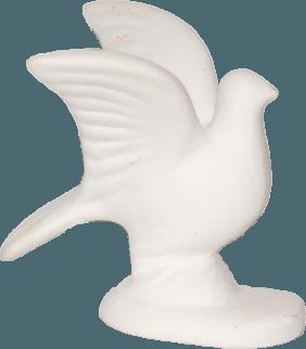евтино малко керамично гълъбче за сватба