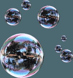 балони от сапунена вода и веро