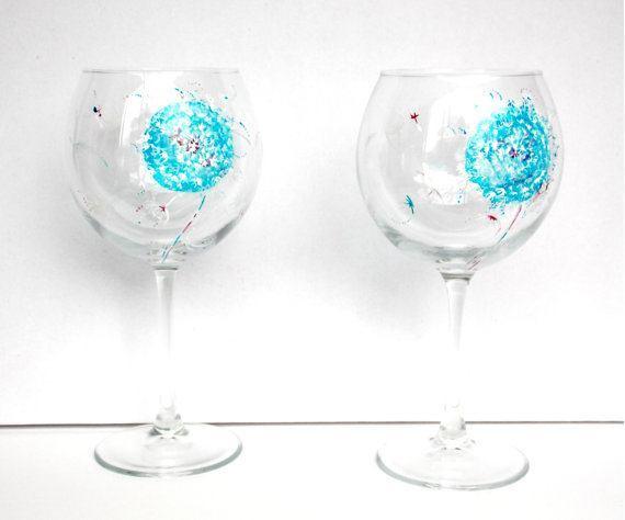 изрисувани сватбени чаши
