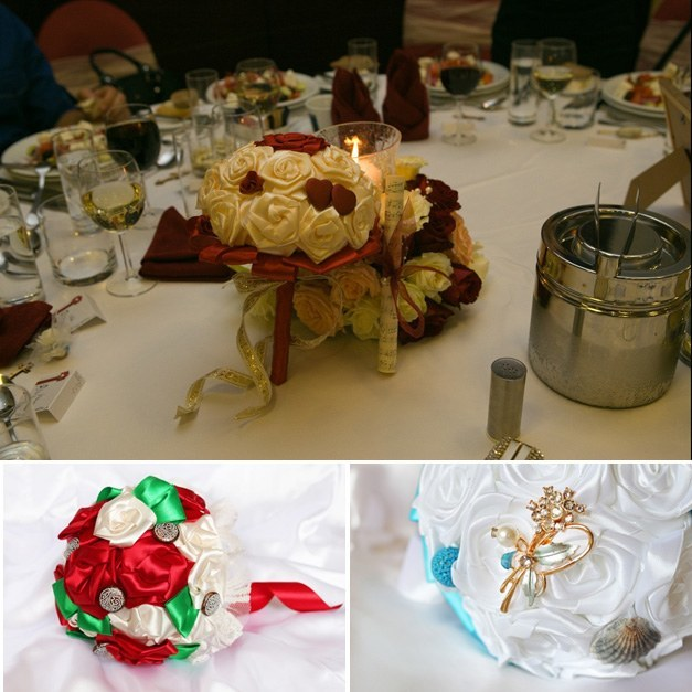 красив букет за сватба