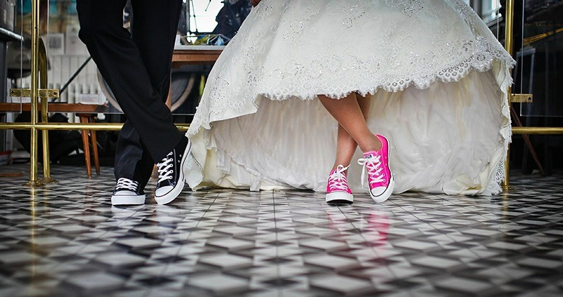 булка и младоженец с кецове