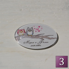 сватбени магнити за хладилник
